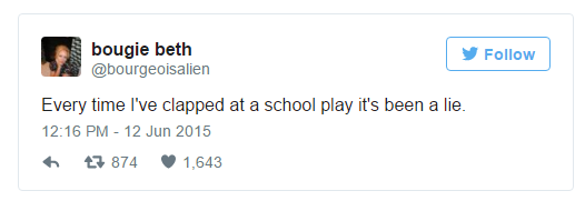 school play tweet