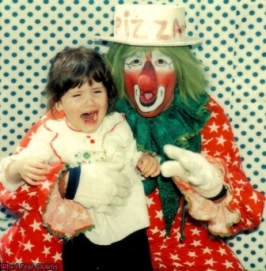 kid crying clown